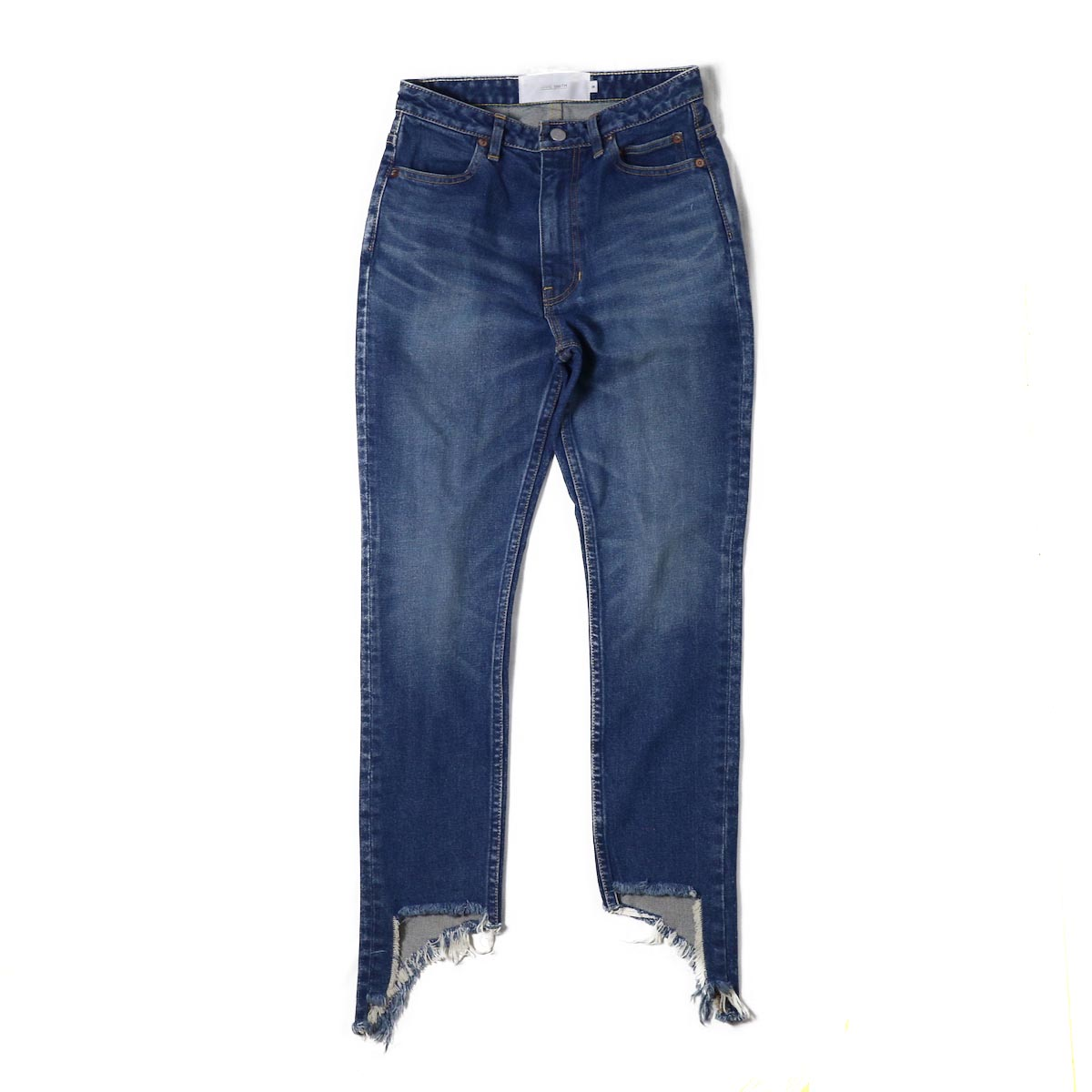 JANE SMITH / CUT OFF SKINNY -INDIGO VINTAGE WASH