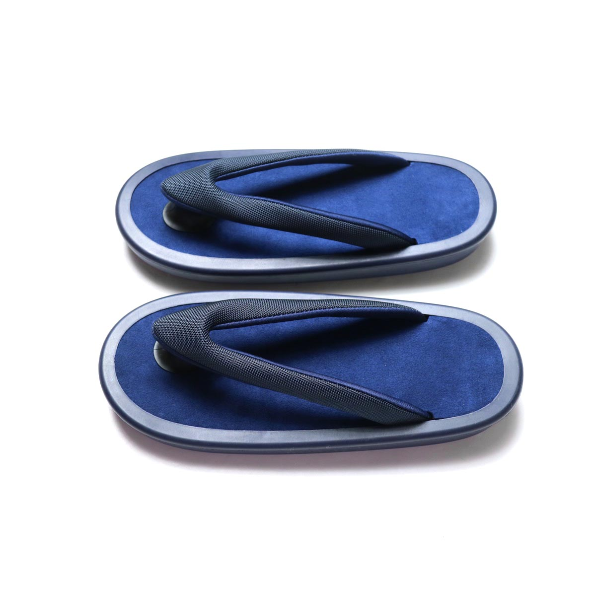 JOJO / Beach Sandal -Black (細鼻緒 / Navy Suede)サイド