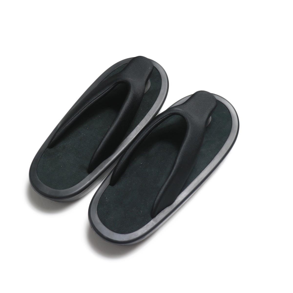 JOJO / Beach Sandal -Black (細鼻緒 / Navy Suede)背面