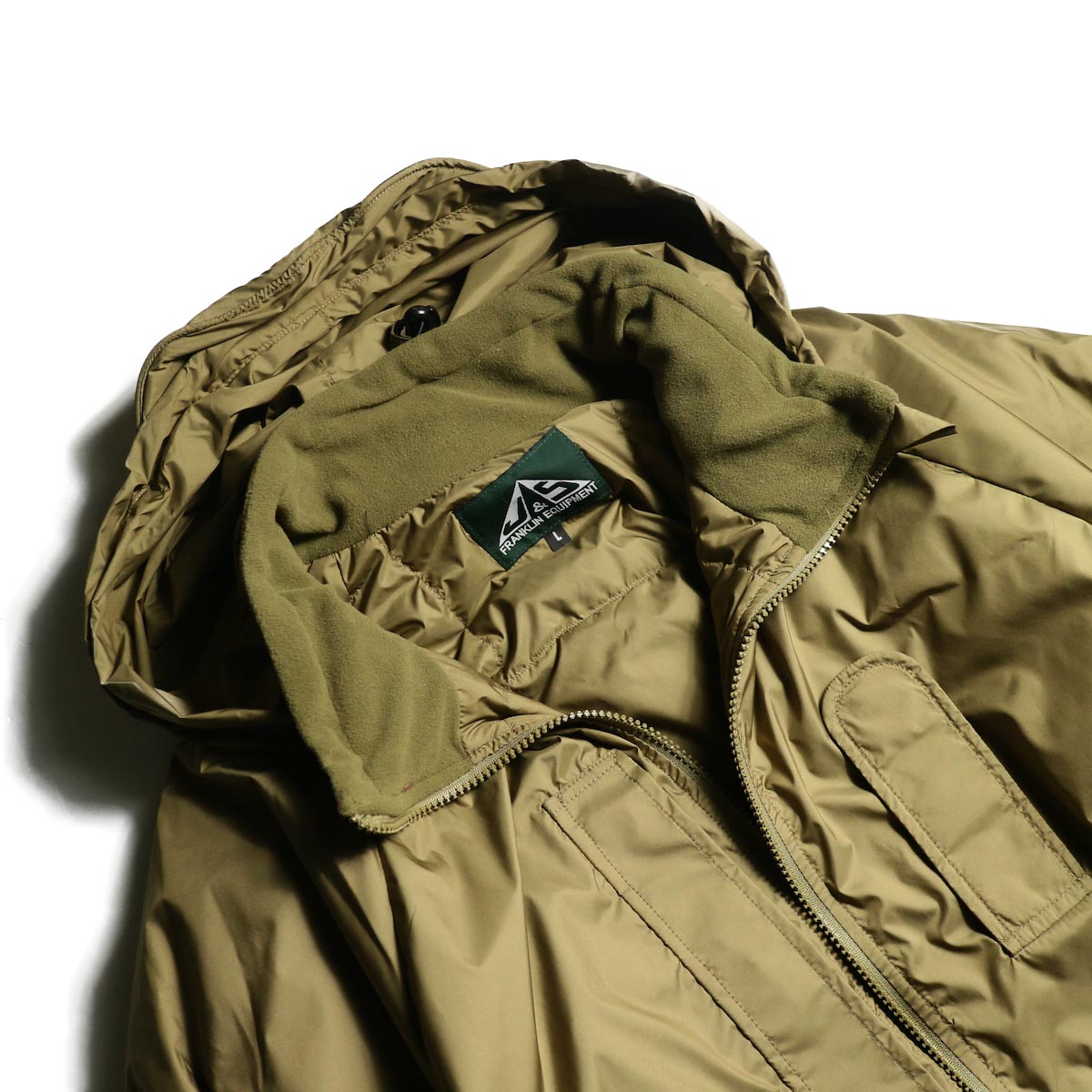 J&S Franklin / BRITISH ARMY PCS LIGHT WEIGHT DOWN JACKET (Coyote) 襟