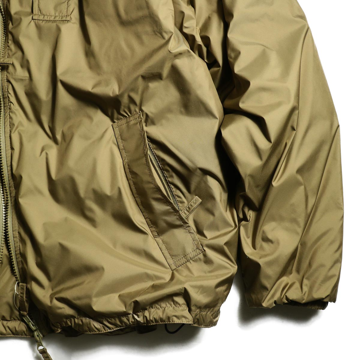J&S Franklin / BRITISH ARMY PCS LIGHT WEIGHT DOWN JACKET (Coyote) 袖、裾