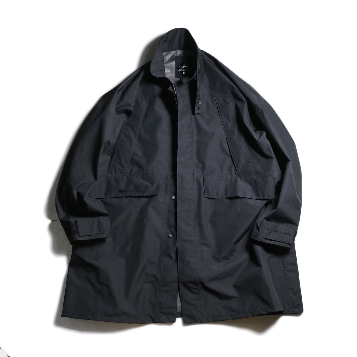 Kaptain Sunshine × Goldwin / Gore-Tex Stand Collar Field Coat (Black)