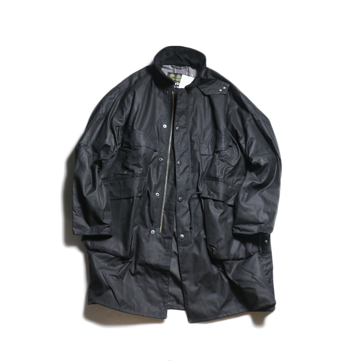Kaptain Sunshine × Barbour / Stand Collar Traveller Coat (Black)