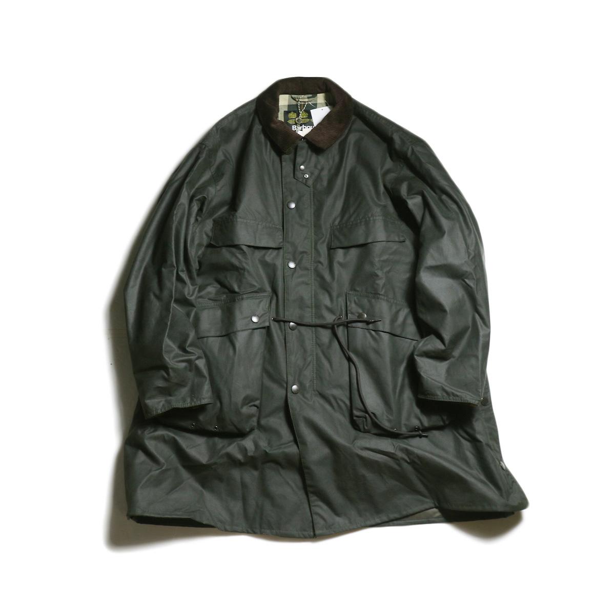 Kaptain Sunshine × Barbour / Stand Collar Traveller Coat (Sage Green)