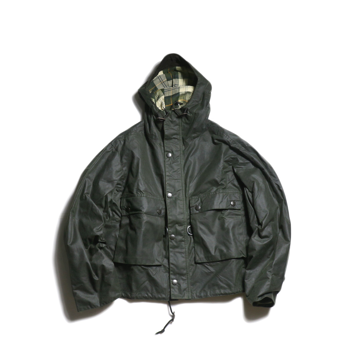 Kaptain Sunshine × Barbour / Field Short Hoody jacket (Sage Green)