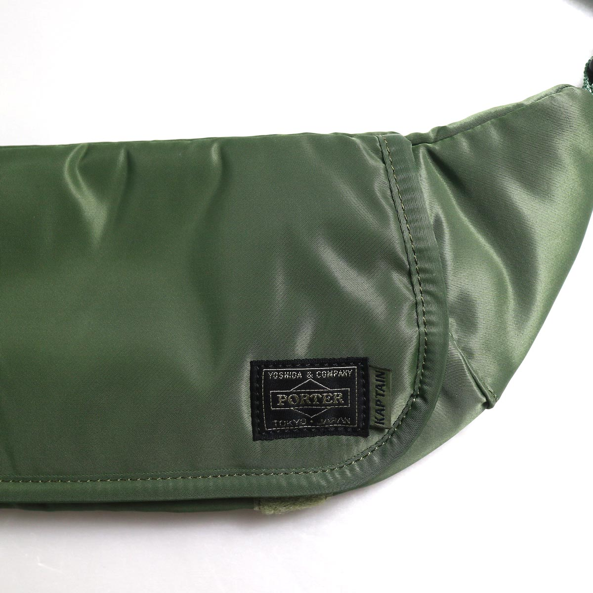 Kaptain Sunshine × Porter / Travellers Funny Bag -Airforce Green ダブルネーム