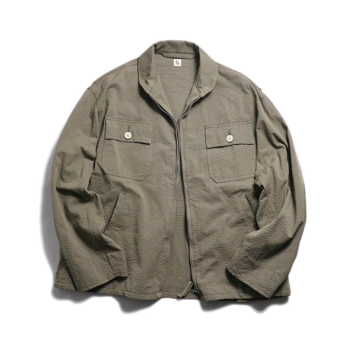 Kaptain Sunshine / Summer Flight Jacket -Beige/Gray