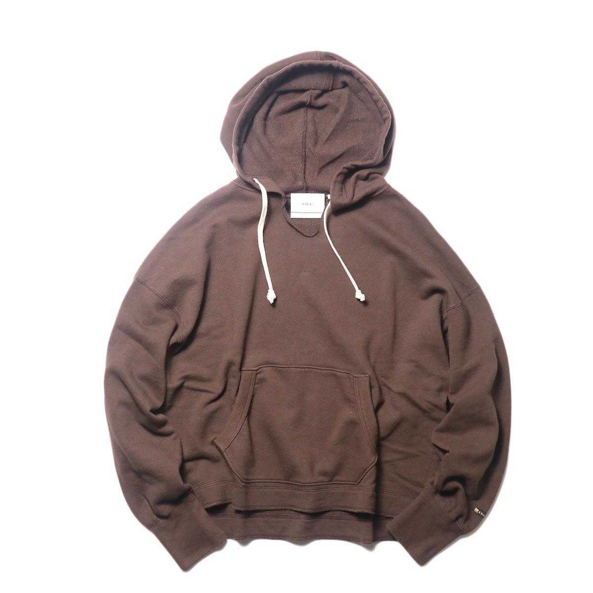 KHA:KI / SWEAT WIDE HOODIE (brown)