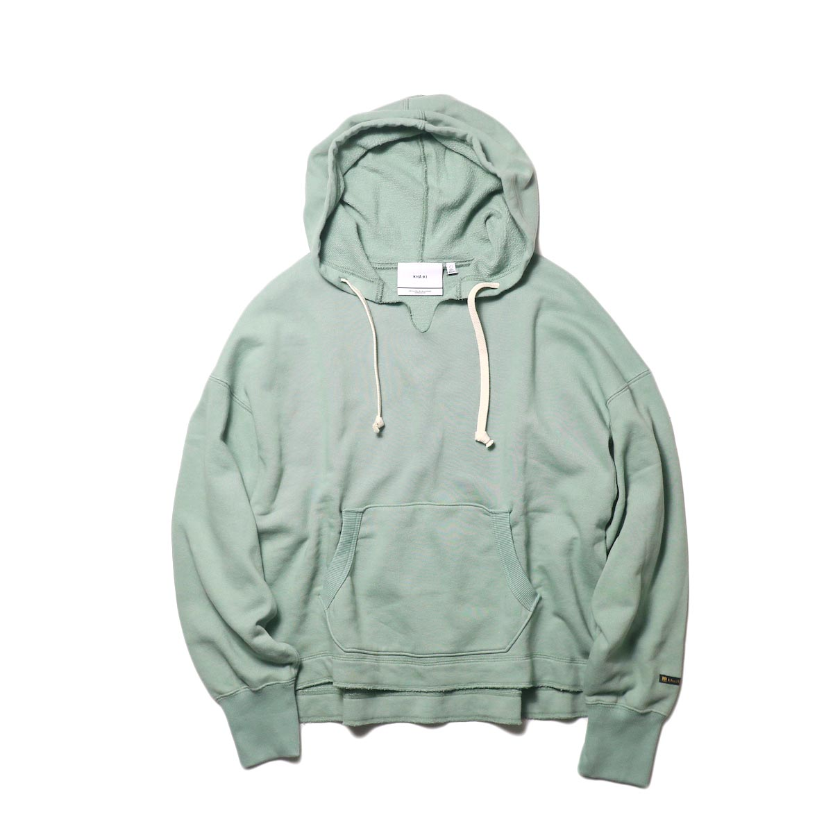 KHA:KI / SWEAT WIDE HOODIE (vtg green) 正面