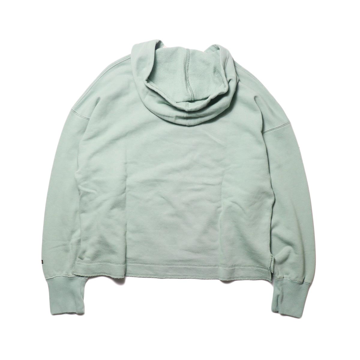 KHA:KI / SWEAT WIDE HOODIE (vtg green) 背面