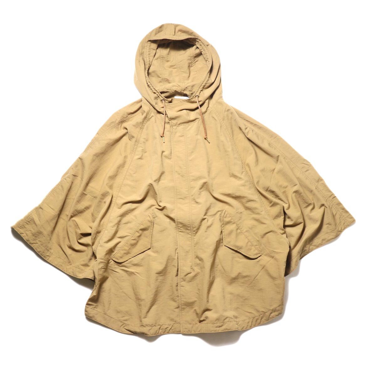 KHA:KI / TYPE-51 HOODED CAPE (camel) 正面 ①