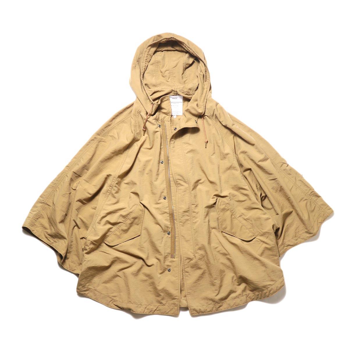 KHA:KI / TYPE-51 HOODED CAPE (camel) 正面 ②