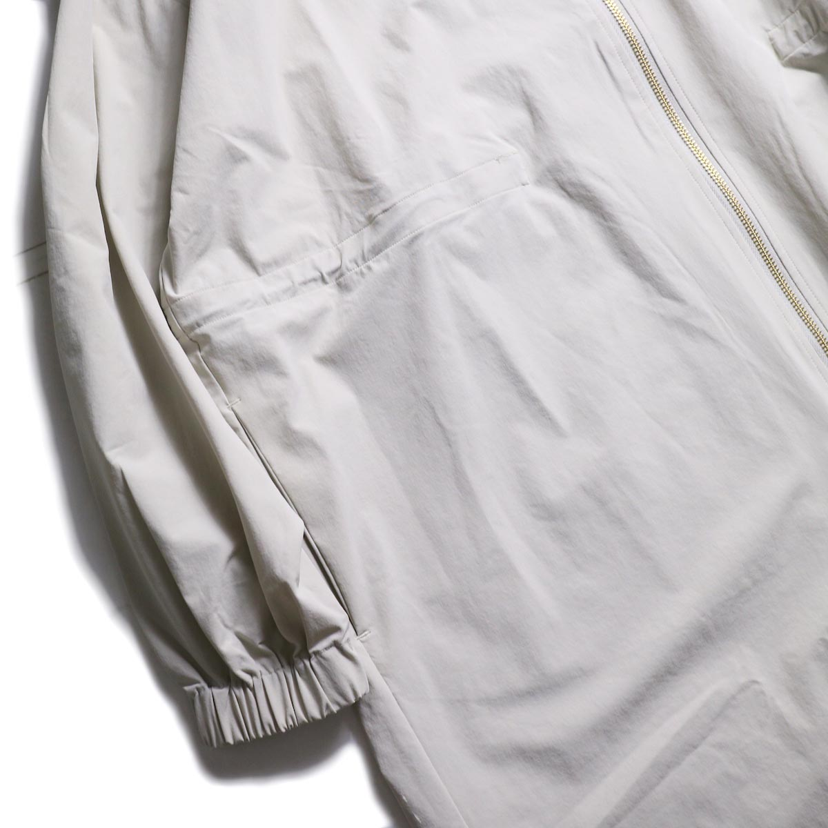 kha:ki /  ZIP HOODED COAT (GRAYGE) 袖