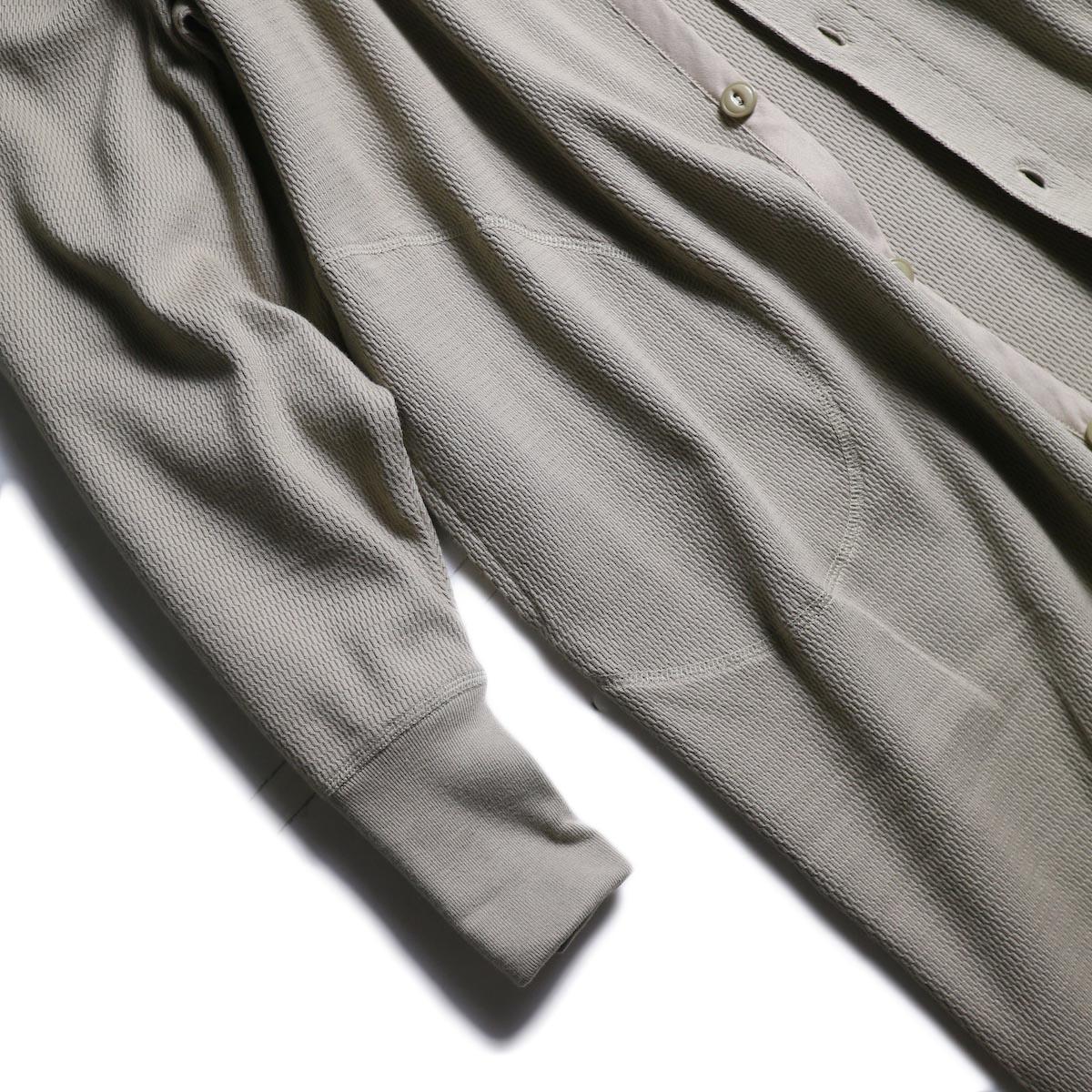 kha:ki × Healthknit / WIDE THERMAL LONG C/D (Grayge)袖