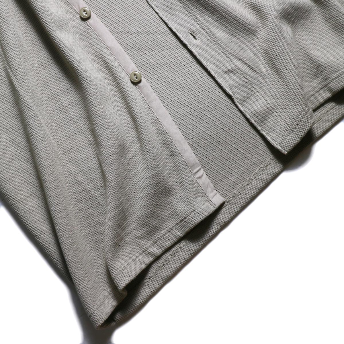 kha:ki × Healthknit / WIDE THERMAL LONG C/D (Grayge)裾