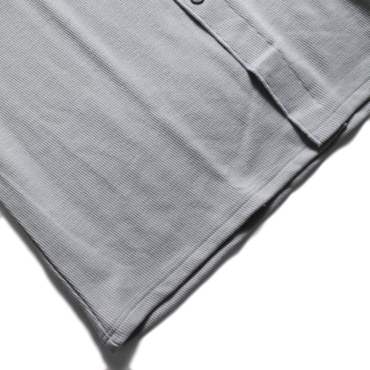 kha:ki × Healthknit / WIDE THERMAL LONG C/D (Vintage Green)裾
