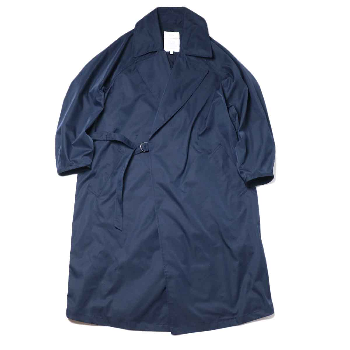 KHA:KI / BELTED WRAP TRENCH COAT (Navy)