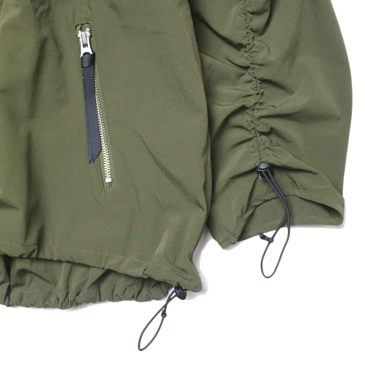 KHA:KI / ST DRAWSTRING JACKET (Khaki) 袖・裾