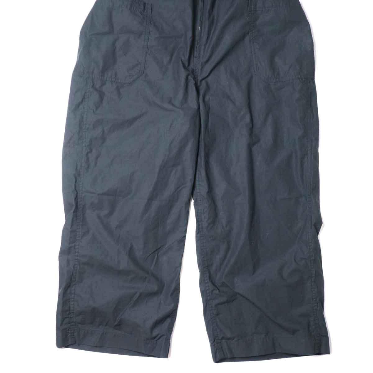 KHA:KI / FRONT OPEN OVERALLS (Black) 裾