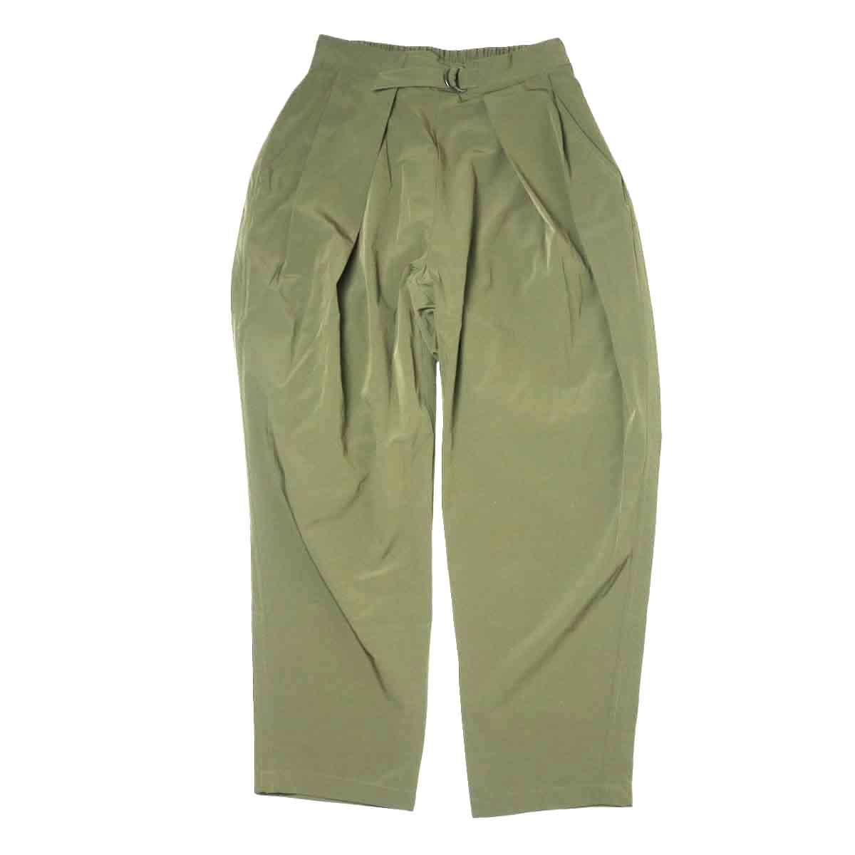 KHA:KI / SIDE WRAP BELTED PANTS (Khaki)