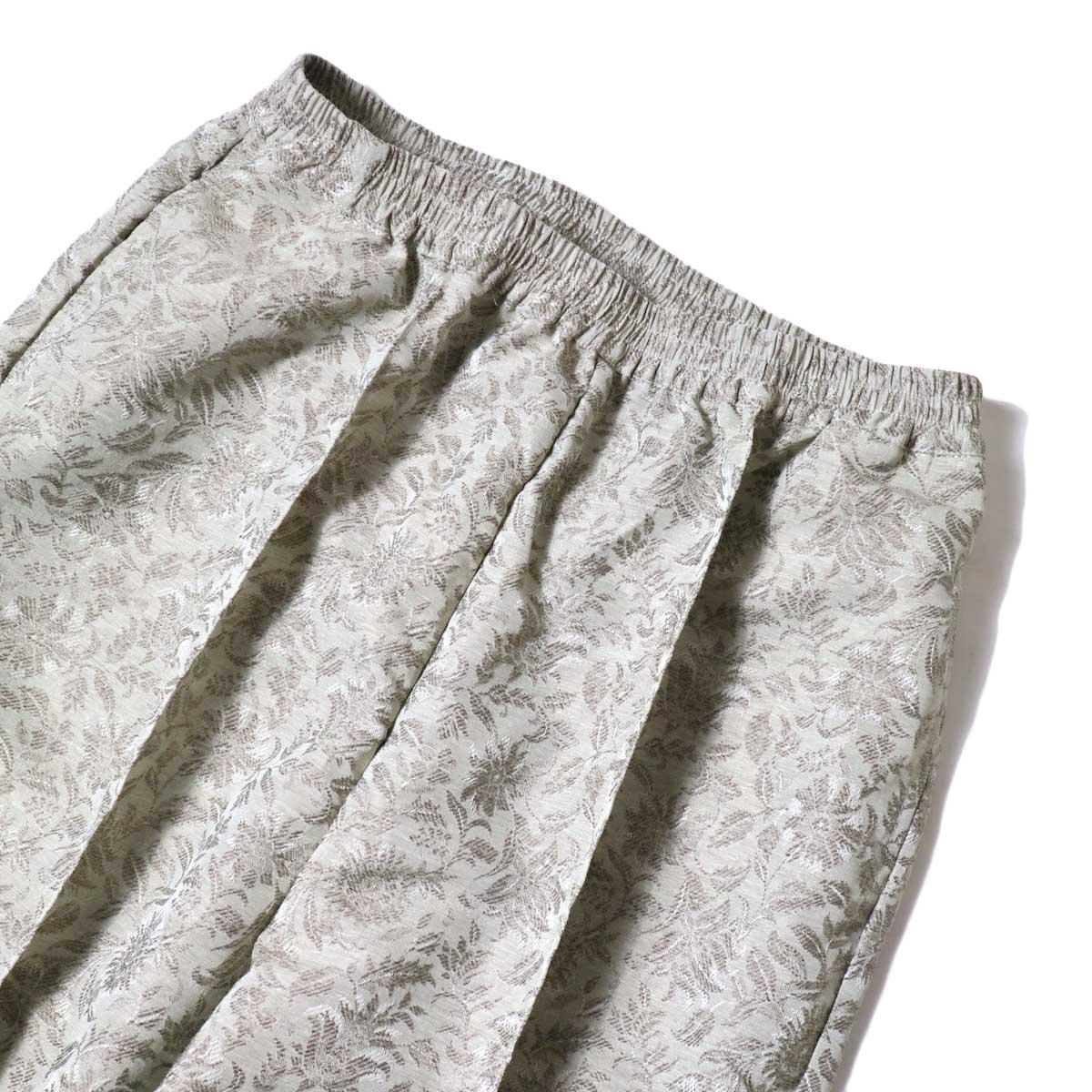 KHA:KI / JAQUARD PANTS (Grayge) ウエストアップ
