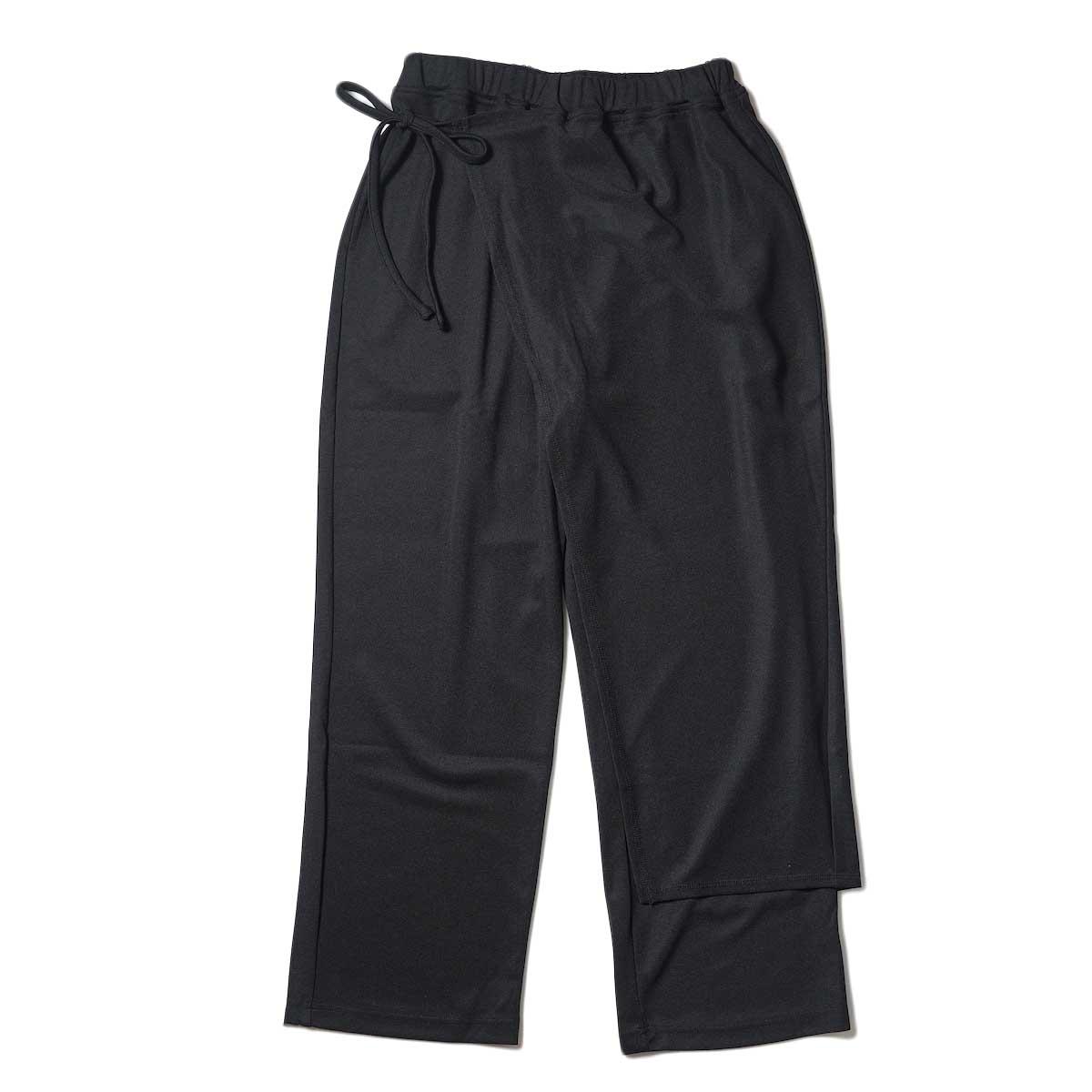 KHA:KI / SIDE WRAP PANTS (Black)