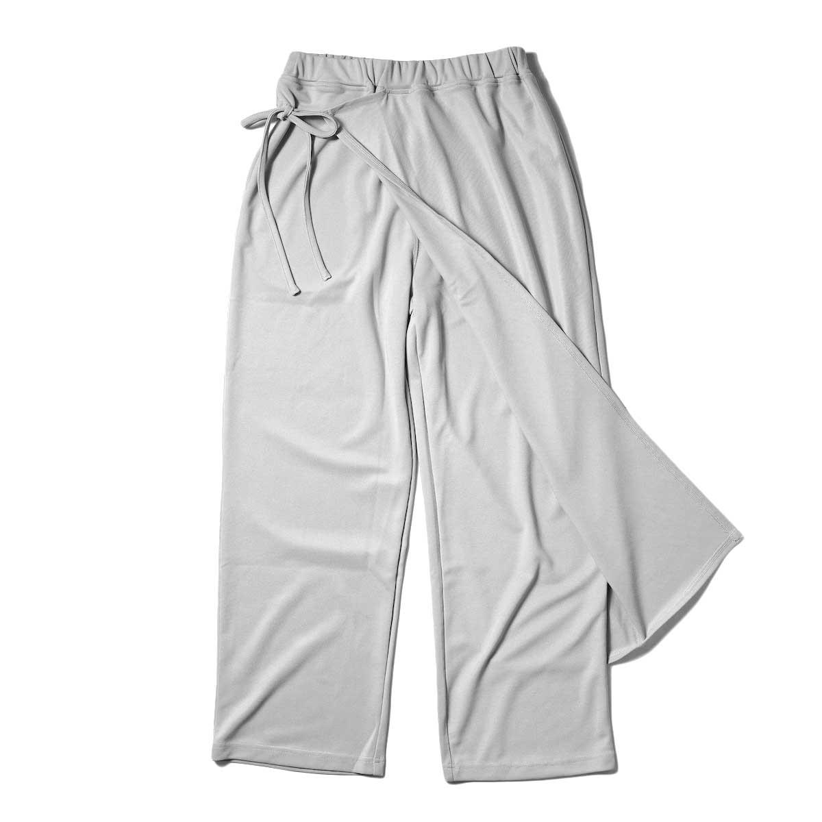KHA:KI / SIDE WRAP PANTS (Grayge) 正面②