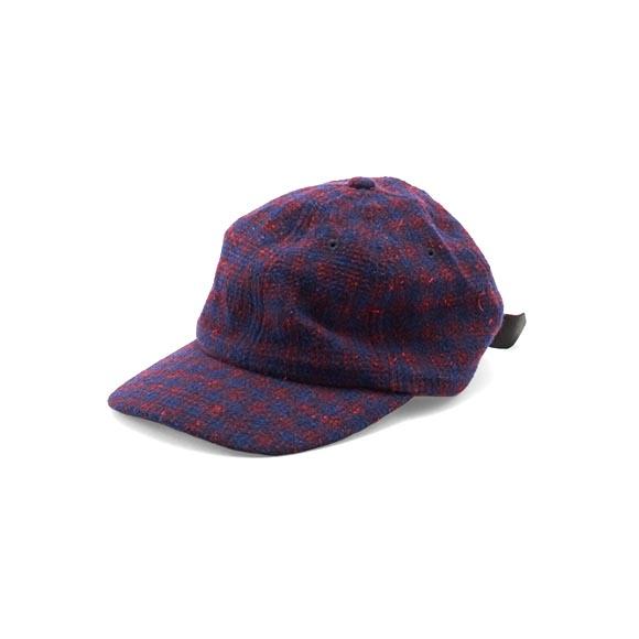 KIJIMA TAKAYUKI / Wool Check Cap (182819) -RED×NAVY