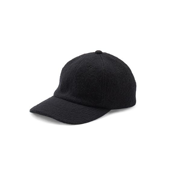 KIJIMA TAKAYUKI / Wool Mosser Cap (W-182859) -BLACK