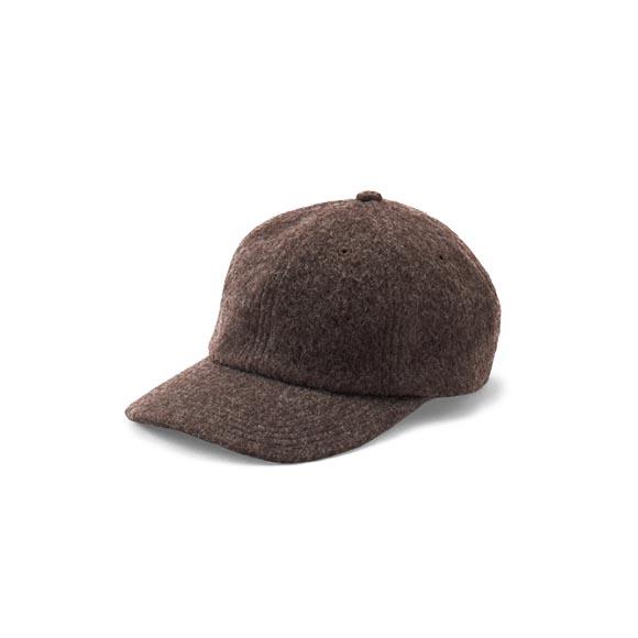 KIJIMA TAKAYUKI / Wool Mosser Cap (W-182859) -BROWN