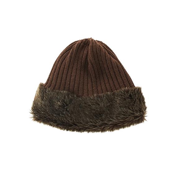 KIJIMA TAKAYUKI / Reversible Knit Cap (WKN-182920) -BROWN