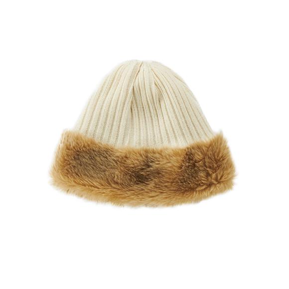 KIJIMA TAKAYUKI / Reversible Knit Cap (WKN-182920) -IVORY