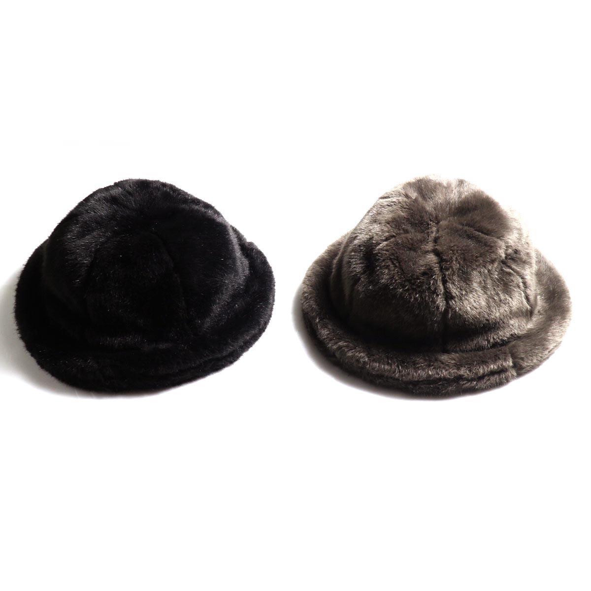 KIJIMA TAKAYUKI / Damage Knit Cap (KN182909)KIJIMA TAKAYUKI / Fake Fur 6 Panel Hat (No.182926)