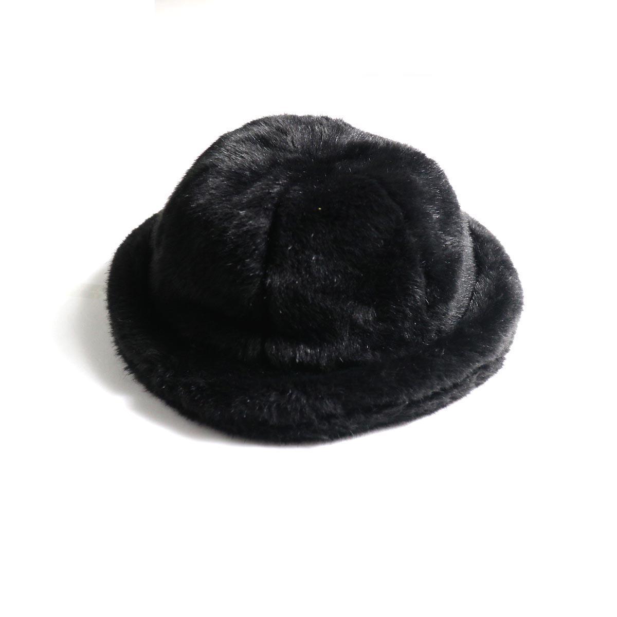 KIJIMA TAKAYUKI / Fake Fur 6 Panel Hat (No.182926) black 正面