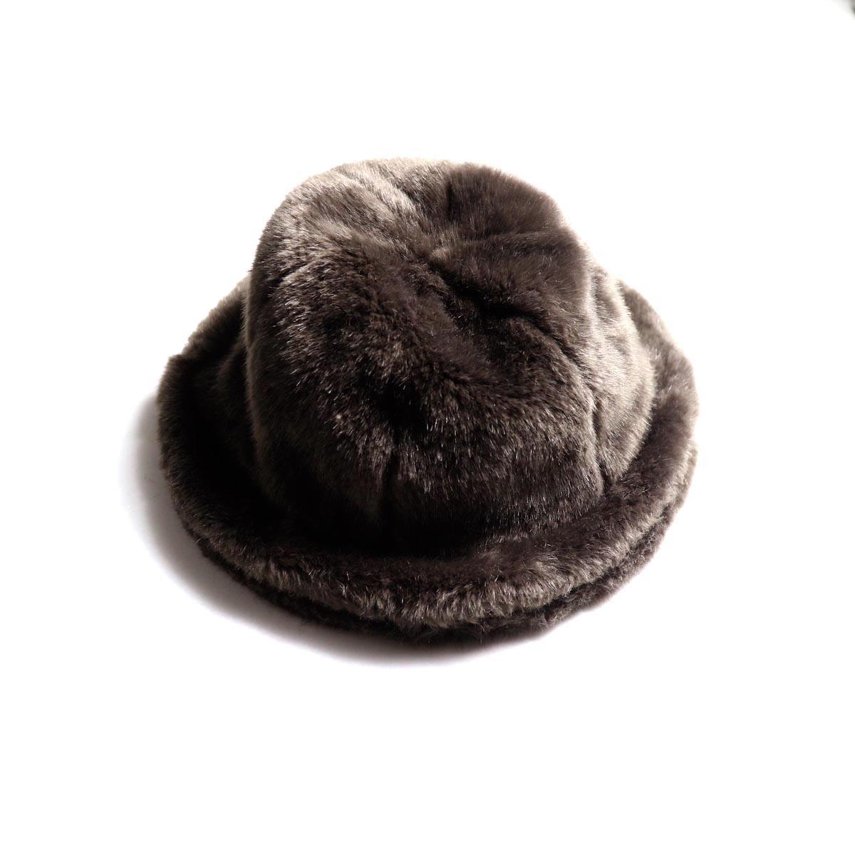KIJIMA TAKAYUKI / Fake Fur 6 Panel Hat (No.182926) brown 正面
