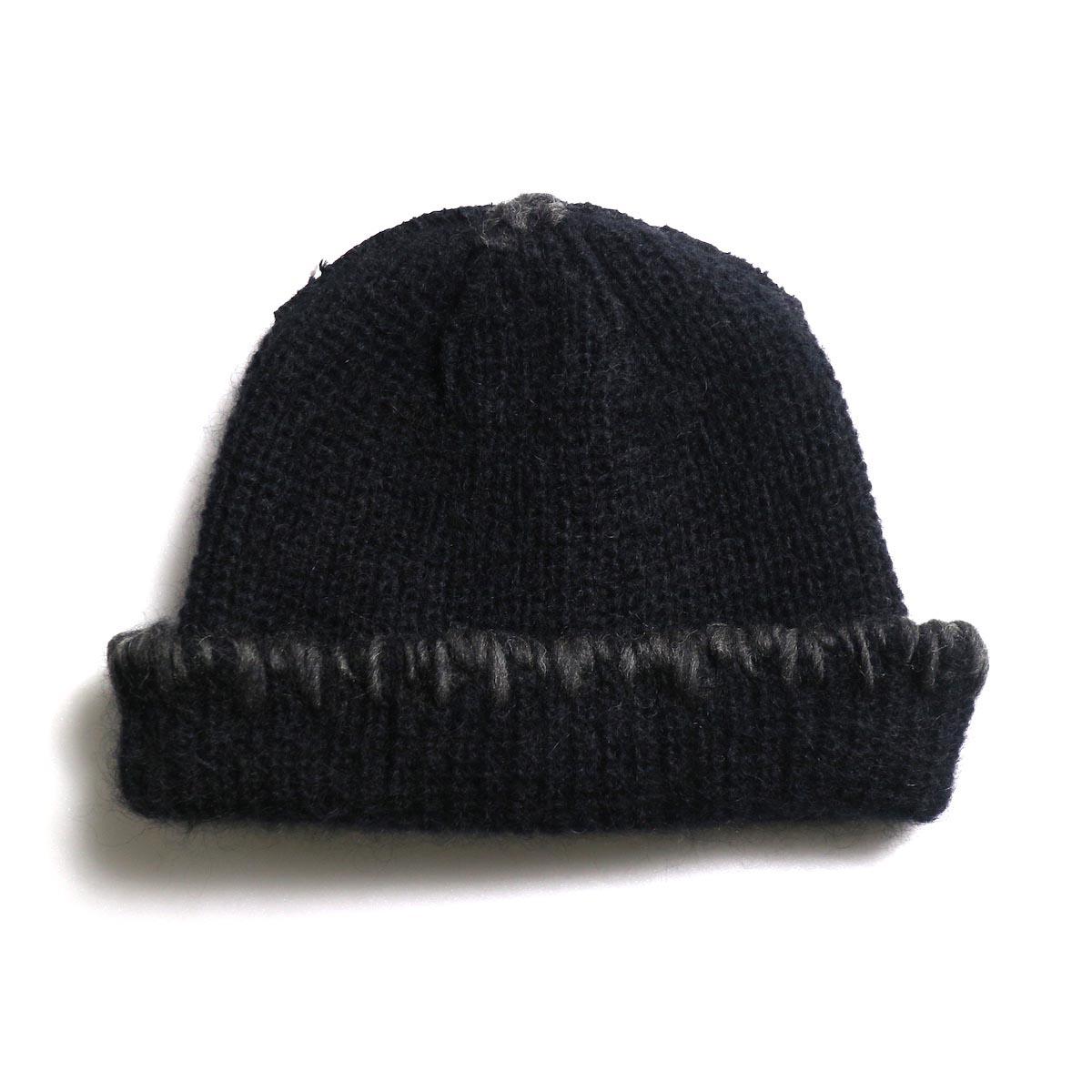 KIJIMA TAKAYUKI / Damage Knit Cap (KN182909) BLACK 正面