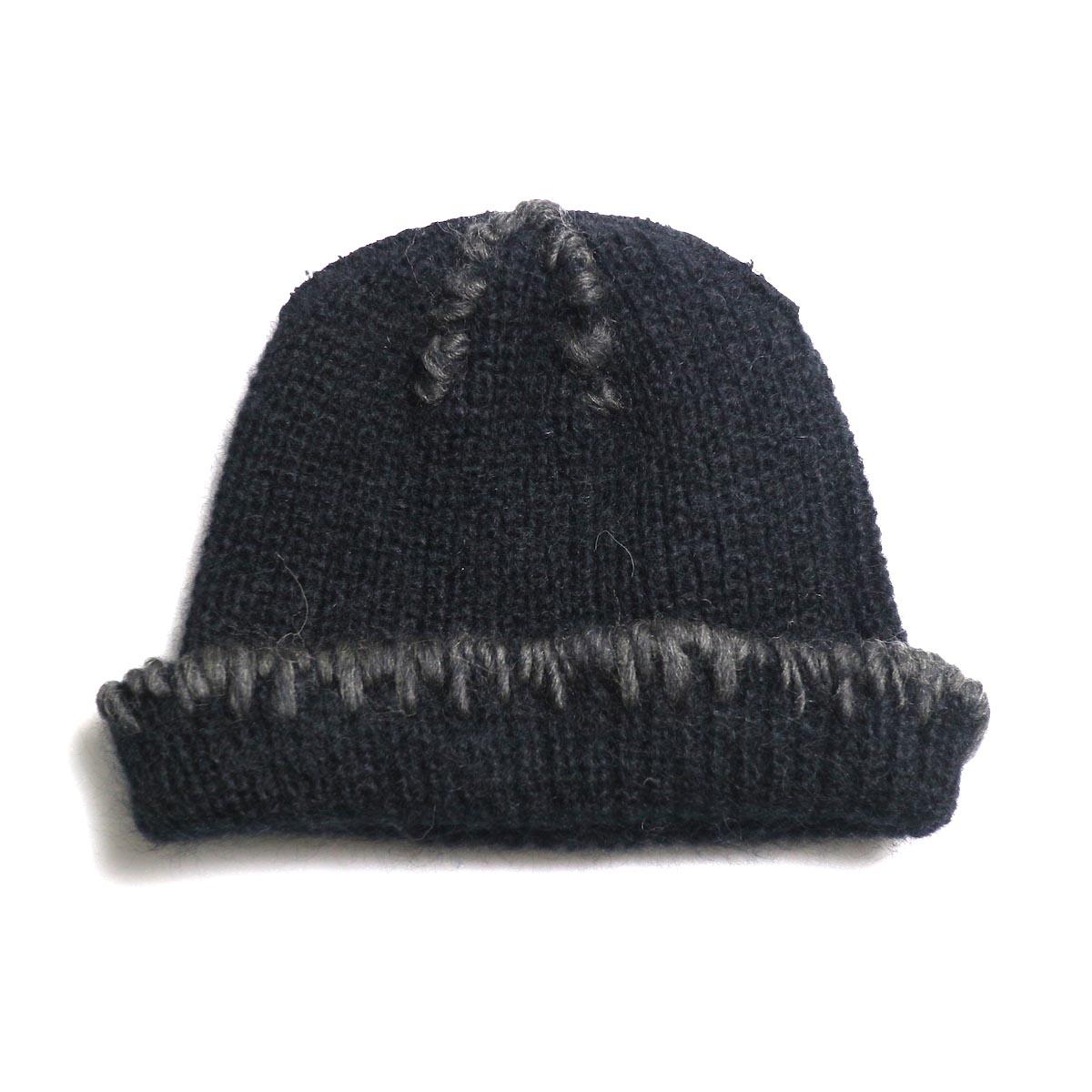 KIJIMA TAKAYUKI / Damage Knit Cap (KN182909) BLACK 裏