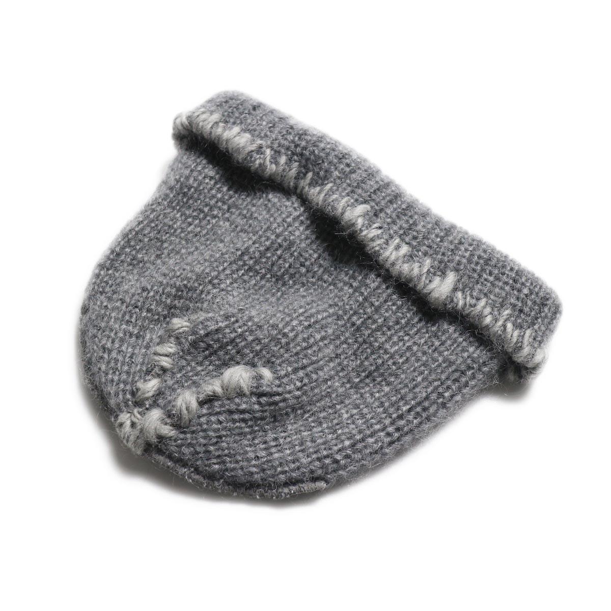 KIJIMA TAKAYUKI / Damage Knit Cap (KN182909) GRAY 逆側