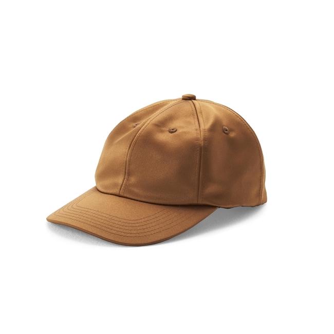 KIJIMA TAKAYUKI / SATIN CAP (W-181144) -BROWN