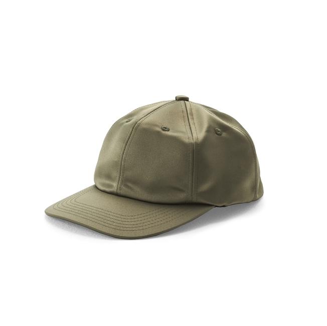 KIJIMA TAKAYUKI / SATIN CAP (W-181144) -MOSS GREEN