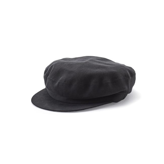 KIJIMA TAKAYUKI / TENCEL MARINE CAP (W-181258) -BLACK