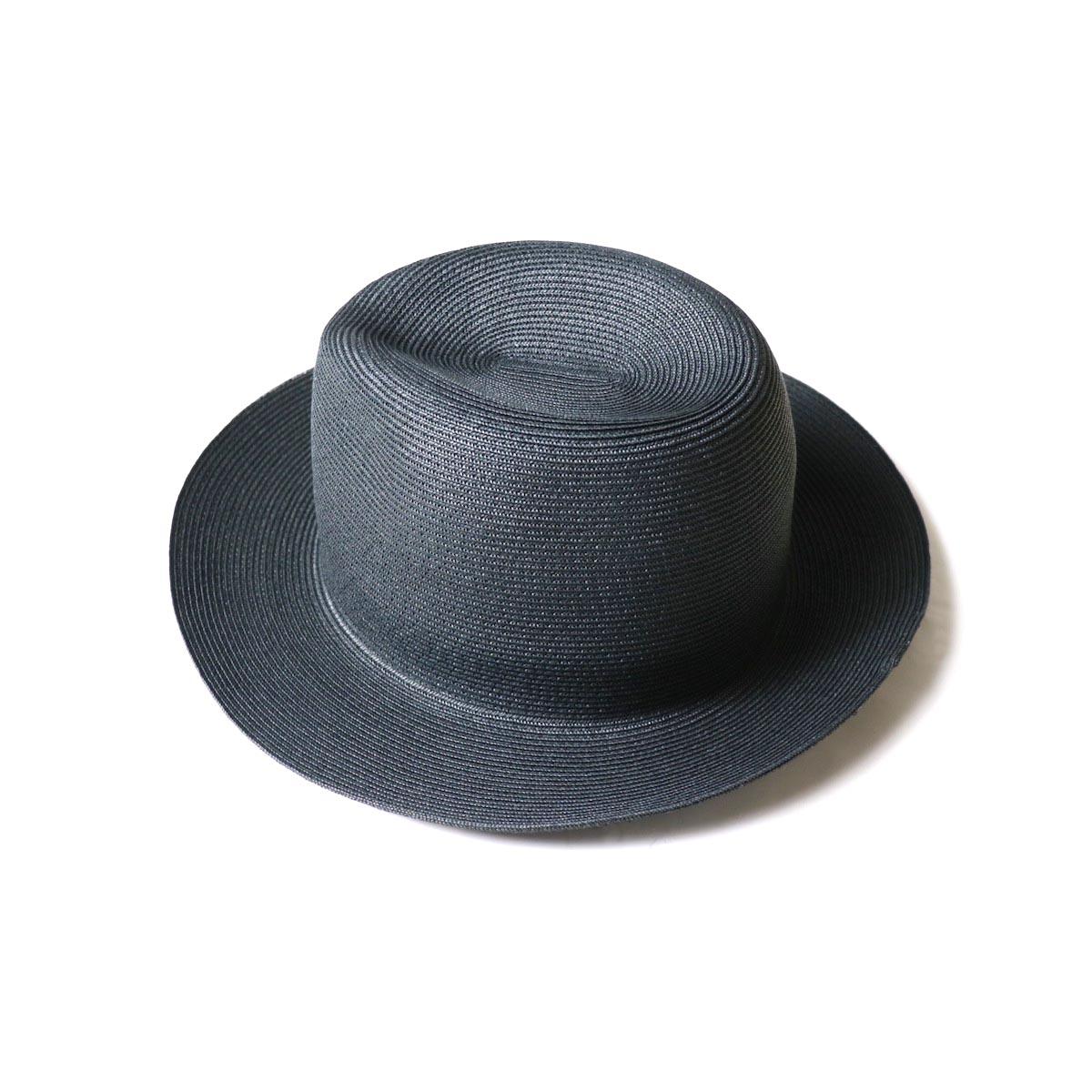 KIJIMA TAKAYUKI / Paper Hat (E-211004)black 斜め後ろ