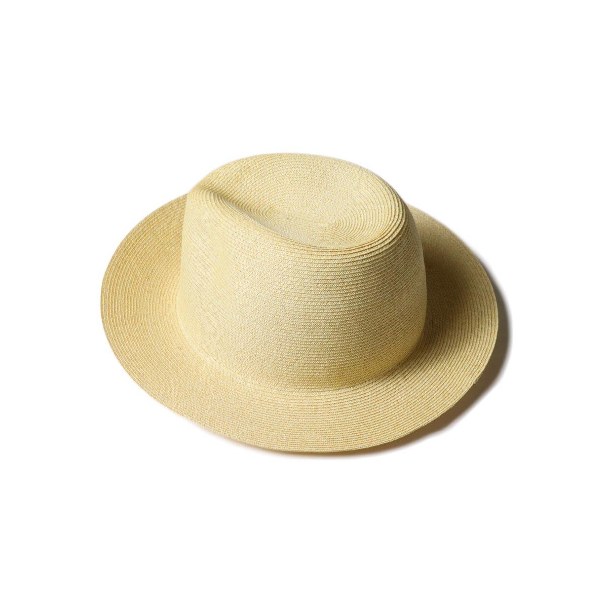 KIJIMA TAKAYUKI / Paper Hat (E-211004)beige 斜め後ろ