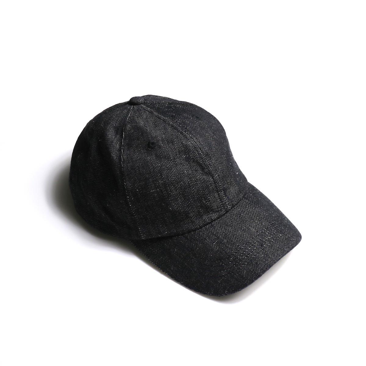 KIJIMA TAKAYUKI /  Linen Denim 6P Cap (No.W-201151)Black
