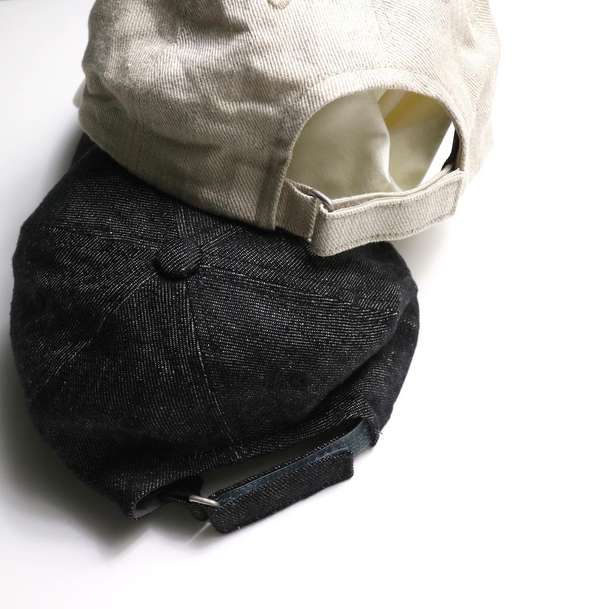 KIJIMA TAKAYUKI /  Linen Denim 6P Cap (No.W-201151)アジャスター