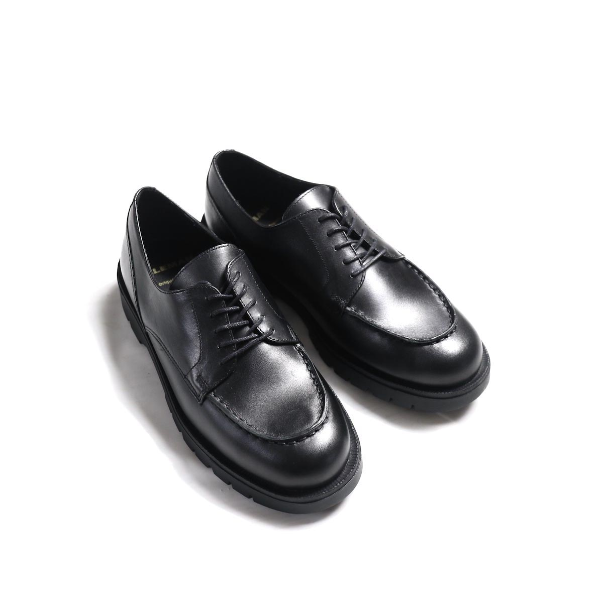 "KLEMAN / ""FRODA"" U TIP SHOES -NOIR"