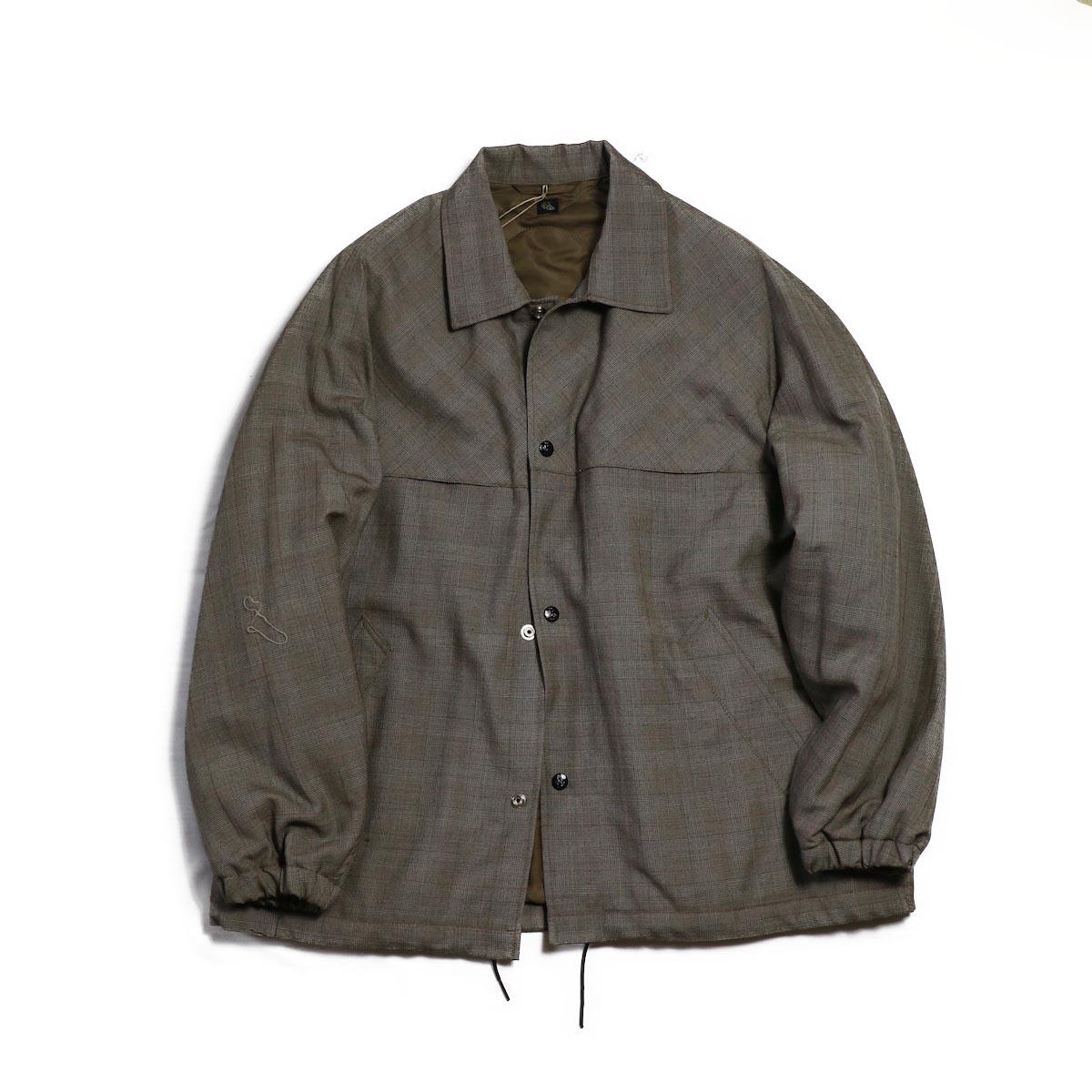 Kaptain Sunshine / Coatch Jacket -Brown Glen Plaid