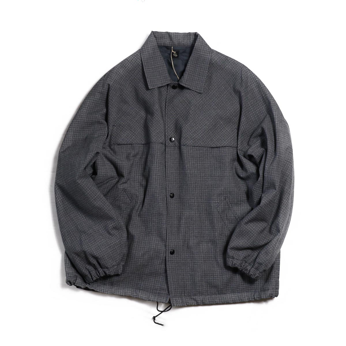 Kaptain Sunshine / Coach Jacket -Grey Hound's Tooth