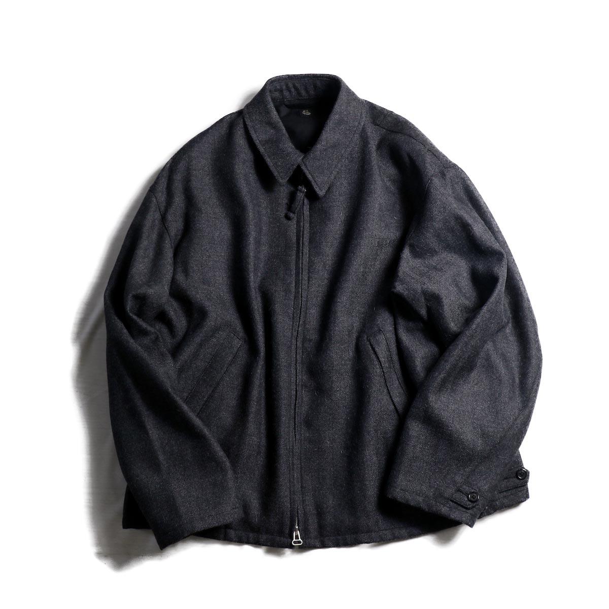 Kaptain Sunshine / Drizzler Jacket -Grey Herringbone