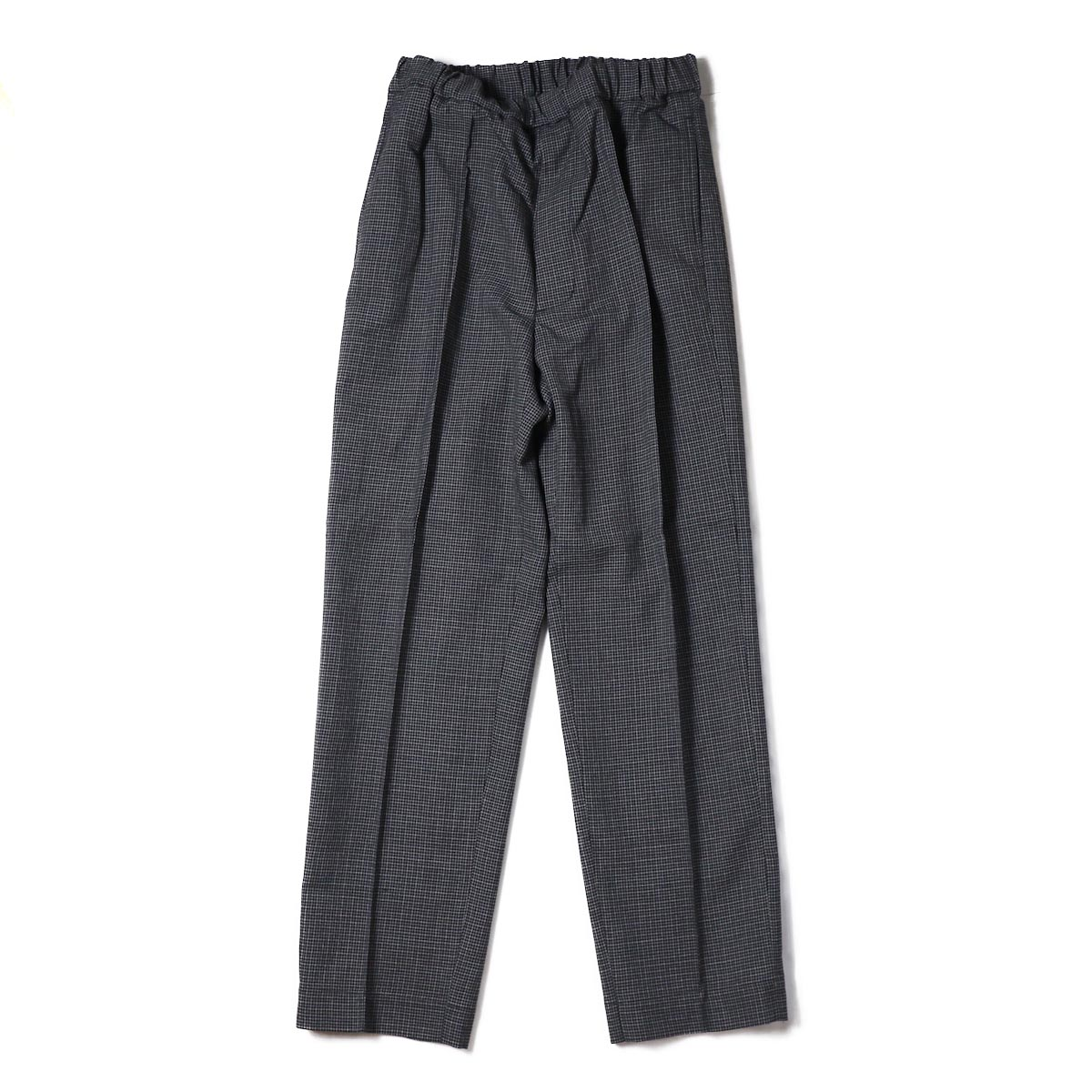 Kaptain Sunshine / Crease Tucked Easy Pants -Grey Hound's Tooth